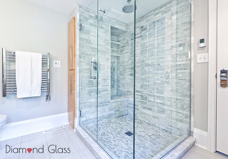 Shower installation custom glass  calgary