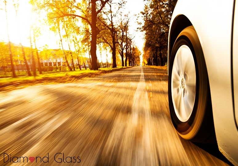 Diamond Glass Fall Driving Safety