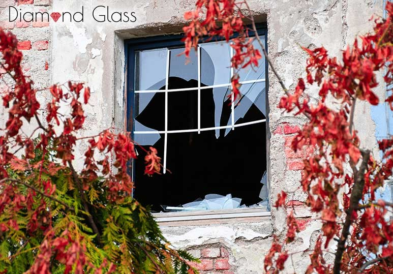 Diamond Glass Fall Broken Windows Best Time Change Calgary Alberta